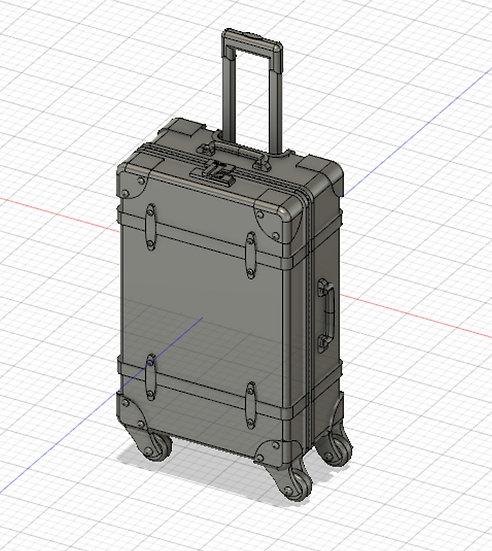 【3Dデータ】旅行ケース 1/24サイズ