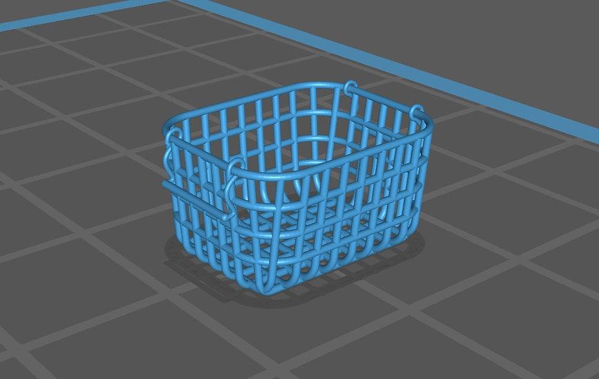 【3Dデータ】カゴ 1/24サイズ