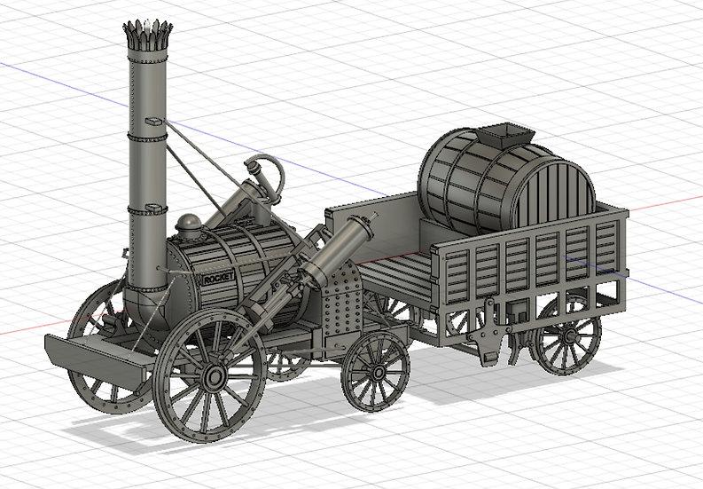 【3Dデータ】蒸気ロケット号