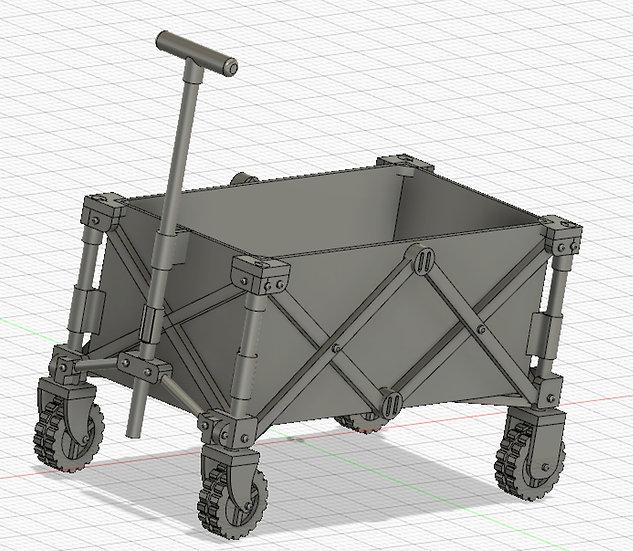 【3Dデータ】アウトドアワゴン 1/24サイズ