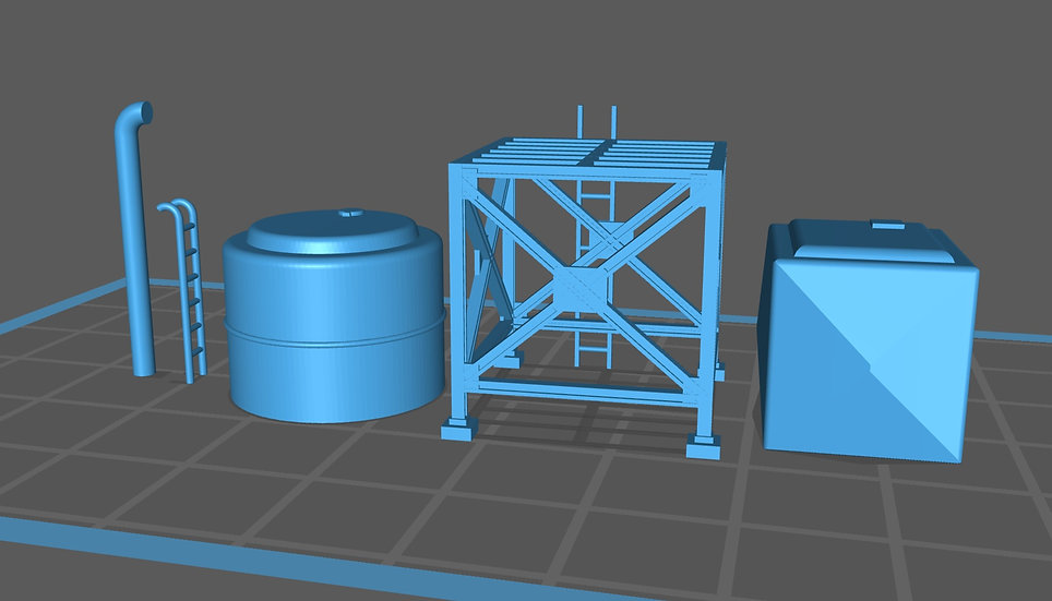 【3Dデータ】情景小物 給水タンク