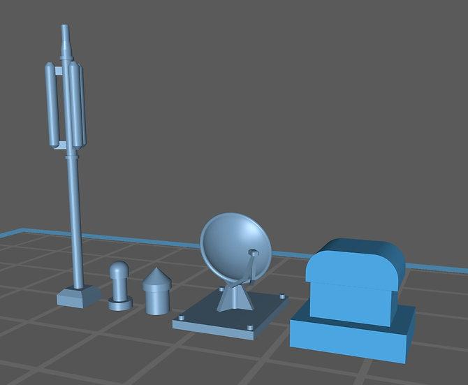 【3Dデータ】マンション屋上装飾セット
