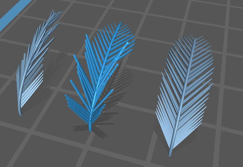【3Dデータ】ヤシの葉