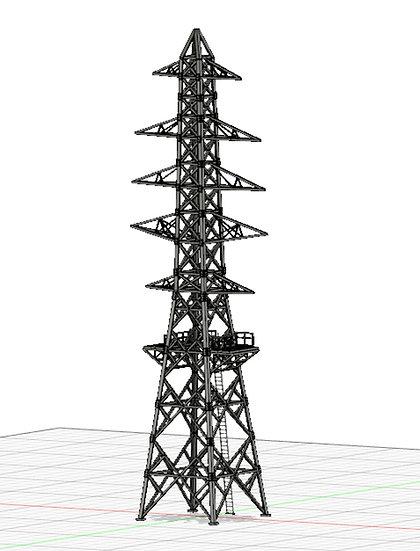 【3Dデータ】送電鉄塔