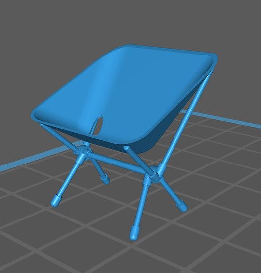 【3Dデータ】アウトドア 折りたたみ椅子 1/24サイズ