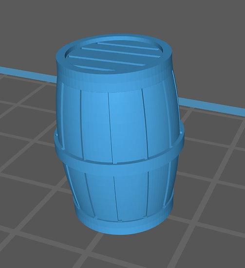 【3Dデータ】ミニ樽 1/24サイズ