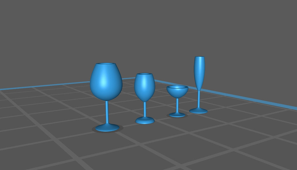 【3Dデータ】ワイングラス 1/24サイズ