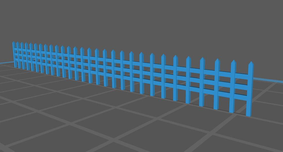 【3Dデータ】情景小物 石柵
