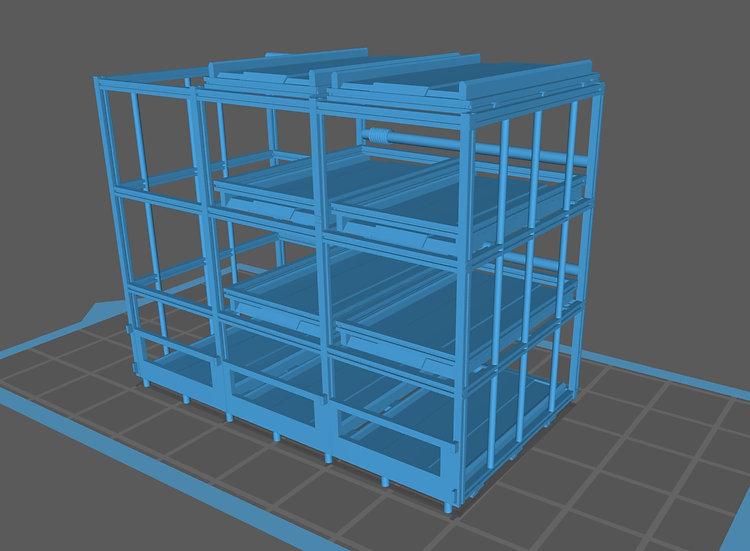 【3Dデータ】情景小物 機械式駐車場