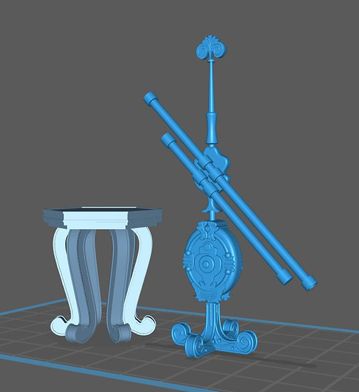 【3Dデータ】ガリレオ望遠鏡 1/24サイズ