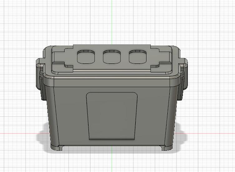 【3Dデータ】収納BOX 1/24サイズ