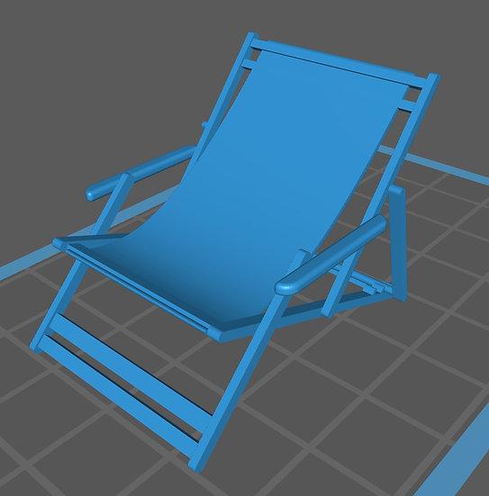【3Dデータ】デッキチェア 1/24サイズ