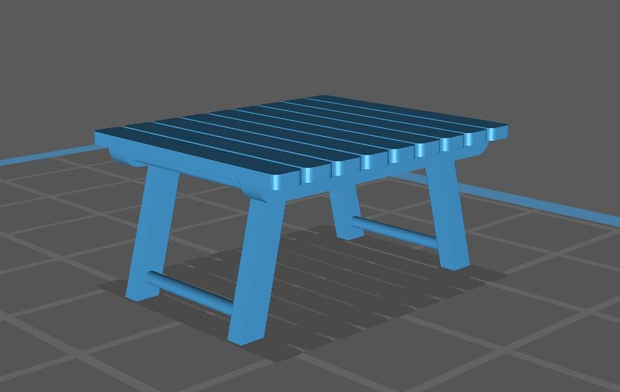 【3Dデータ】ローテーブル(キャンプ用)1/24サイズ
