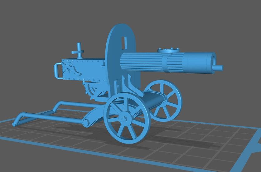 【3Dデータ】マキシム機関銃 1/24サイズ