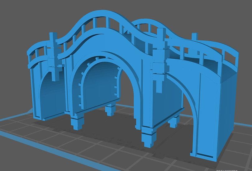 【3Dデータ】情景小物 アーチ橋
