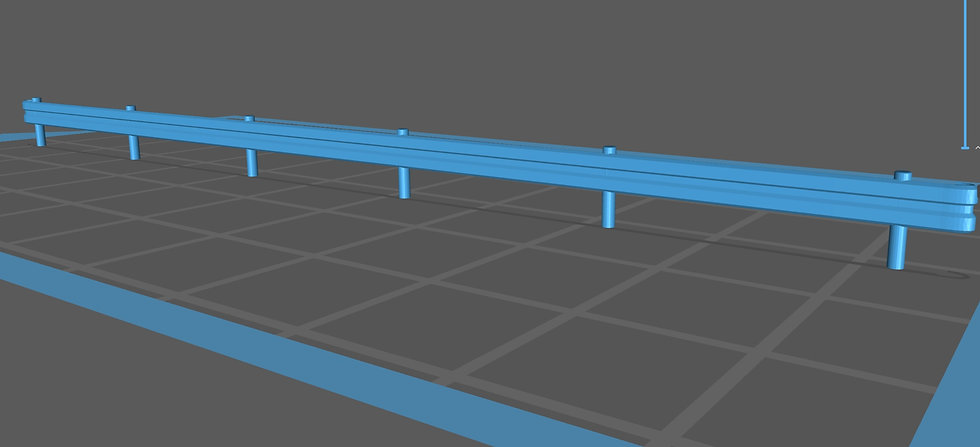【3Dデータ】情景小物 ガードレール(白板)