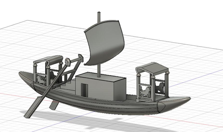 【3Dデータ】古代の帆船 1/24サイズ
