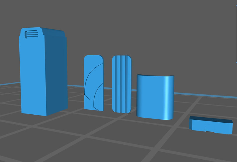 【3Dデータ】情景小物 仮設トイレ