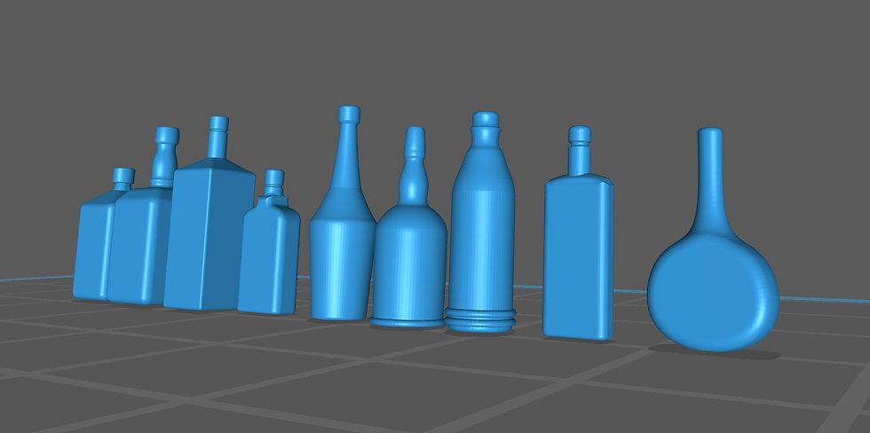 【3Dデータ】ウィスキー&リキュール類 瓶 1/24サイズ