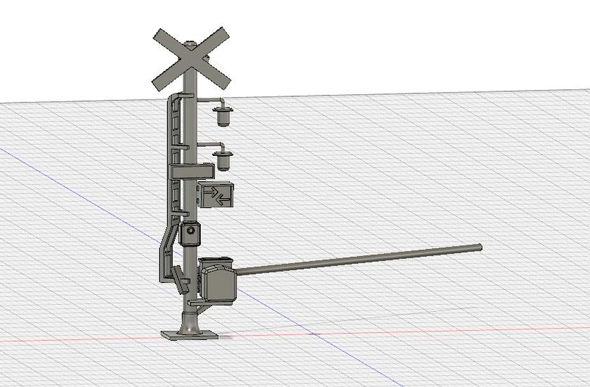 【3Dデータ】Nゲージ用 踏切セット