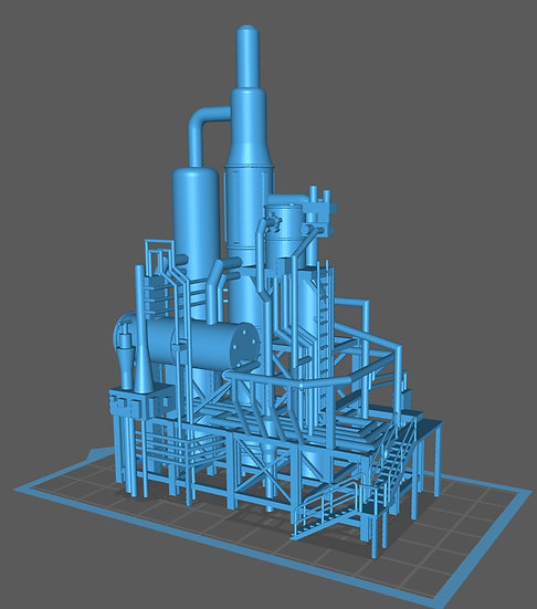 【3Dデータ】工場 プラントD
