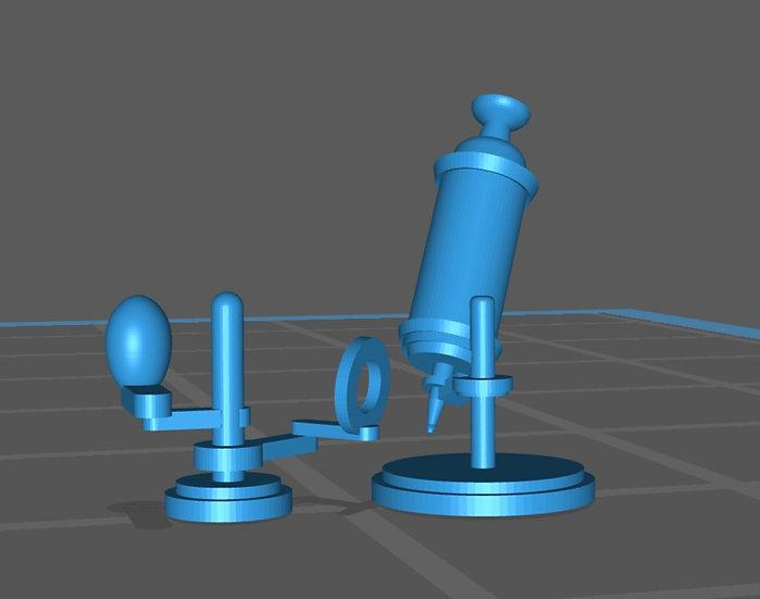 【3Dデータ】顕微鏡 発明初期 1/24サイズ