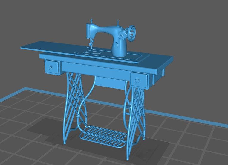 【3Dデータ】家庭用ミシン 発明初期タイプ 1/24サイズ