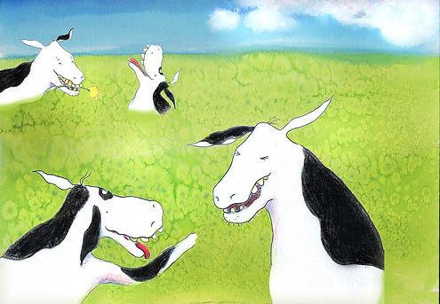 koeien weide bloemen prentenboek illustratie barbara van rheenen