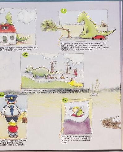 dinosaurussen, strip, dino's barbara van rheenen illustratie