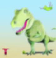 willewete dinosaurussen barbaravanrheenen illustratie dinosaurus T rex Trex t-rex