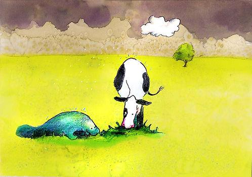 koe zeekoe illustratie prentenboek barbara van rheene