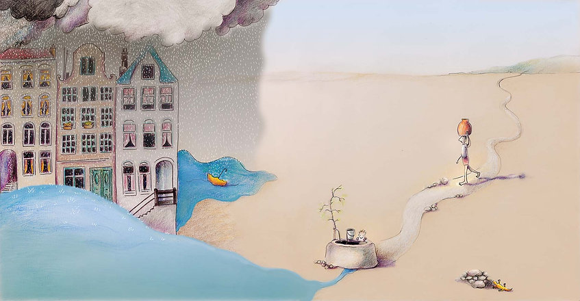 water willewete water barbara van rheenen illustratie
