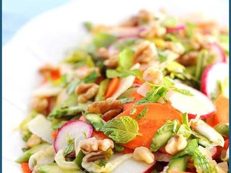 Shaved spring salad with Lemon Vinaigrette