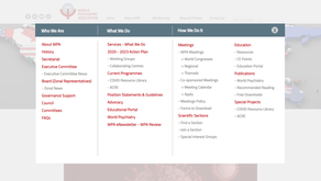 New WPA Website Navigation
