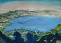 Lake watercolour 58x78cm