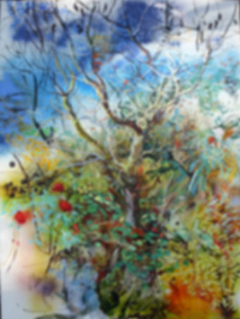 "The Winter Tree - oil on canvas - 185x157cm 73""x62"""