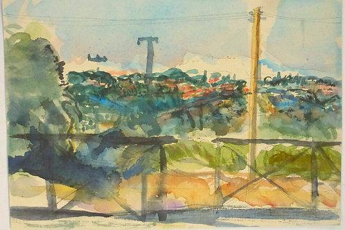 """Watercolour sketch, san Lorenzo Nuovo, 18x26cm 7""""x10"""""""