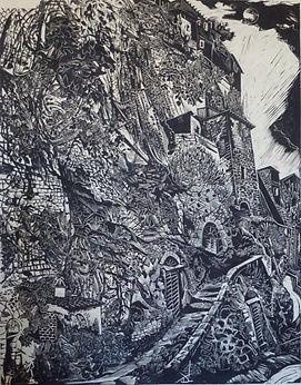 Underbelly on Okawara paper 100x80cm, 800 Euros