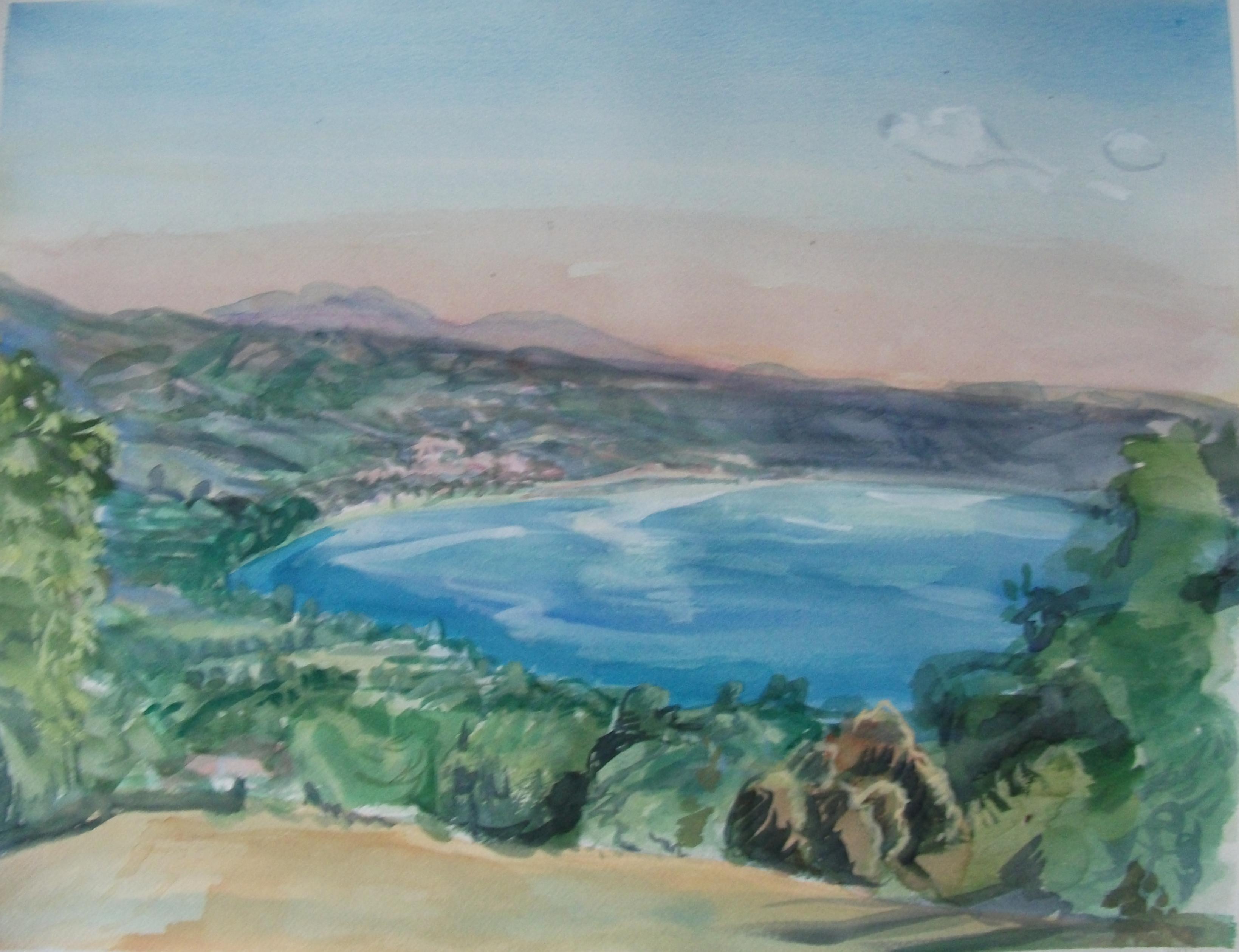 Bolsena watercolour on Arches paper-57x75cm