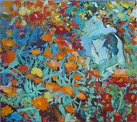 6 flowery sketch marigolds52x46cm.jpg
