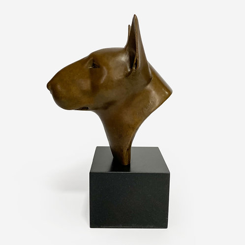 Bronze Bull Terrier Sculpture