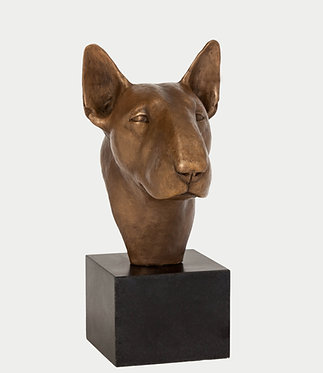 Cold Cast Bronze Bull Terrier Sculpture
