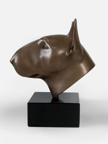 Bull terrier sculpture helena curry scul