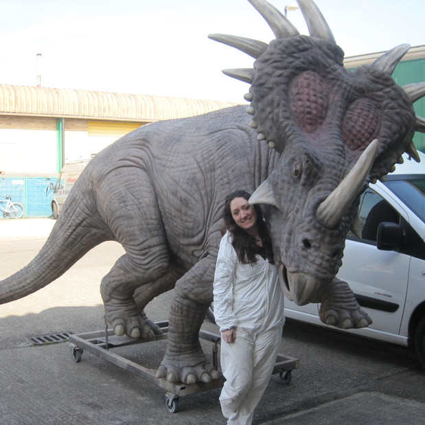 Helena Curry with Dinosaur made for muse