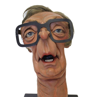 Michael Caine Spitting Image Puppet