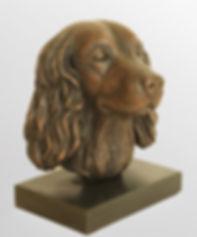 Bronze Hare Bronze resin spaniel bronze