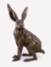 Bronze Hare Sculpture Helena Curry Anima