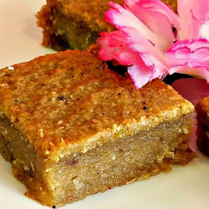 Cassava Pone & Coconut Bake