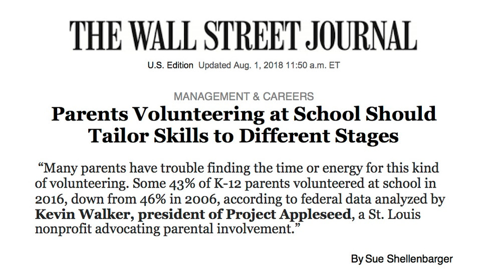 Project Appleseed president Kevin Walker quoted in the Wall Street Journal