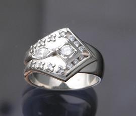 Men's Diamond Inlay Wedding Ring